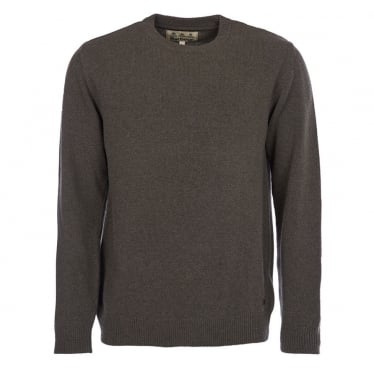 Mens Nelson Essential Crew Neck Jumper in Seaweed