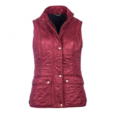 Womens Wray Gilet in Carmine