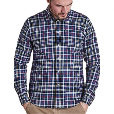 Mens Alvin Shirt in Blue Marl