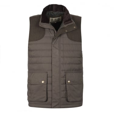 Mens Bradford Gilet in Forest