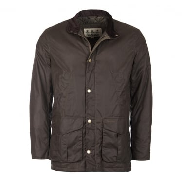 Mens Hereford Wax Jacket in Peat