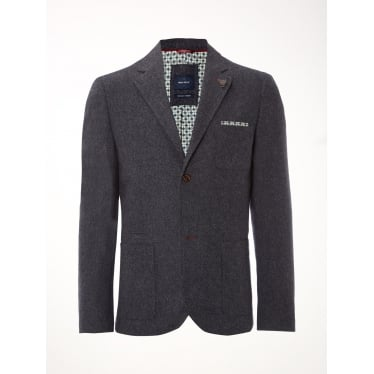 Mens Tuber Blazer in Grey Blue