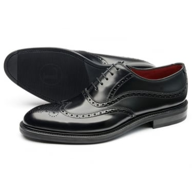 Mens Demon Oxford Brogue Shoe in Black