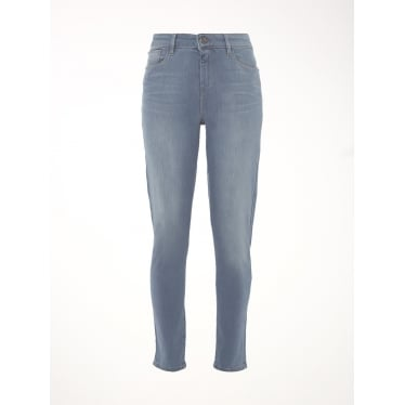 Womens Willow Skinny Jean in Grey Blue Plain
