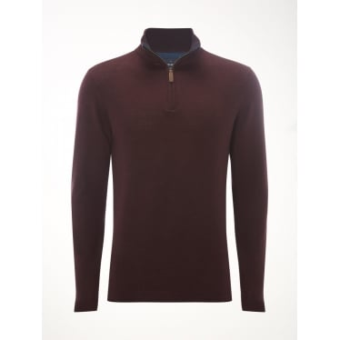 Mens Yarrow Merino Funnel in Bilberry