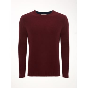 Mens Back Stop Crew Knit in Bilberry