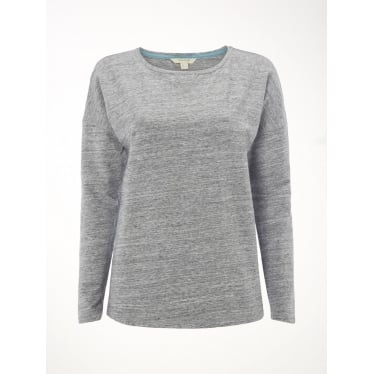 Womens Sunday Brunch Sweat in Grey Marl Plain