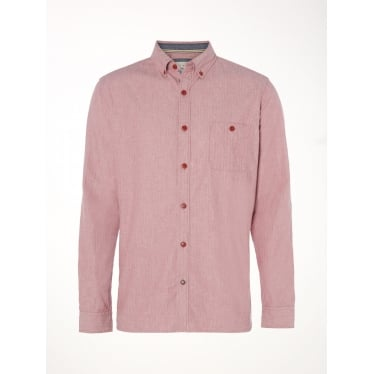 Mens Dogwood Long Sleeve Shirt in Pink