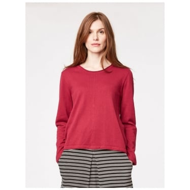Womens Morgan Jumper in Ruby