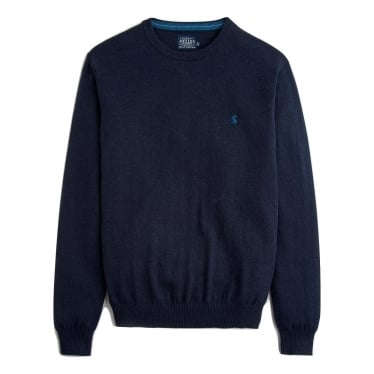Mens Retford Crew Neck Jumper in French Navy Marl