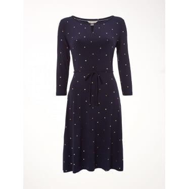 Womens Ditsy Foil Spot Dress in Arran Teal Spot