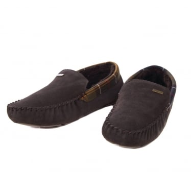 Mens Monty Moccasin Slipper in Brown