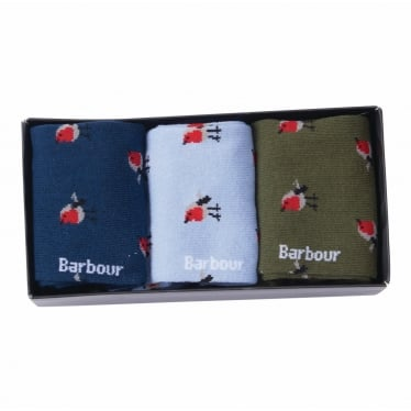Robin Motif Sock Gift Box Set