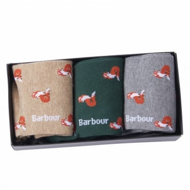 Fox Motif Sock Gift Box Set