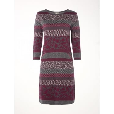 Womens Keiko Jacquard Jersey Dress in Multi