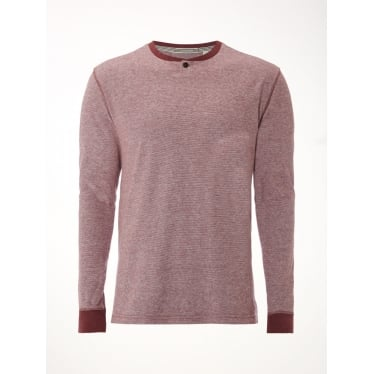 Mens Harvest Notch Neck Super Soft Tee in Burgundy