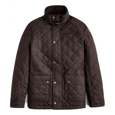 Mens Highridge Quilted Jacket in Bark Brown