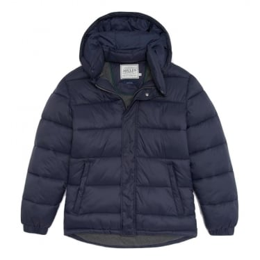 Mens Brampton Padded Coat in Navy