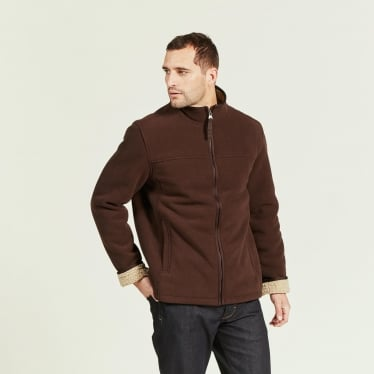 Mens Broadbill Fleece Jacket in Mustang/beige