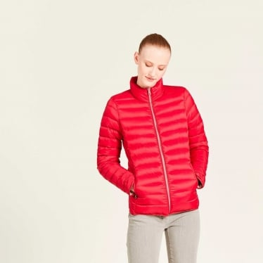 Womens Lillydown Compactible Thermo Kit Down Jacket in Cherry