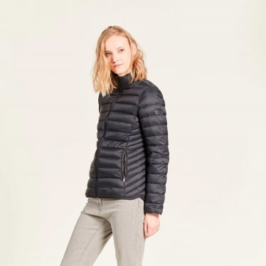 Womens Lillydown Compactible Thermo Kit Down Jacket in Midnight