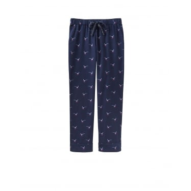 Womens Snooze Woven Pj Bottoms in French Navy Pheasant