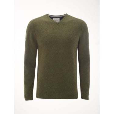 Mens Back Stop Vee Knit in Thyme
