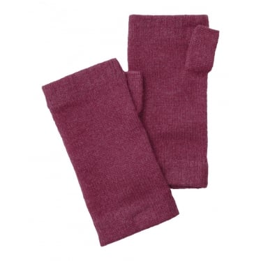Womens Cashmere Wrist Warmer in Raspberry