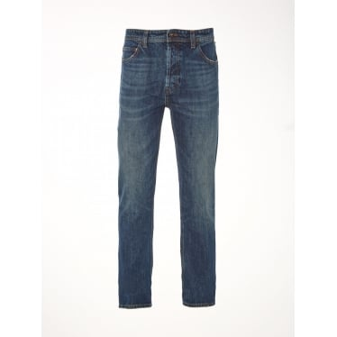 Mens Rigid Gin Slim Jeans in Mid Wash