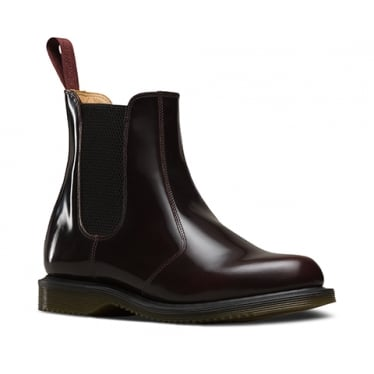 Flora Chelsea Boot in Cherry Red Arcadia