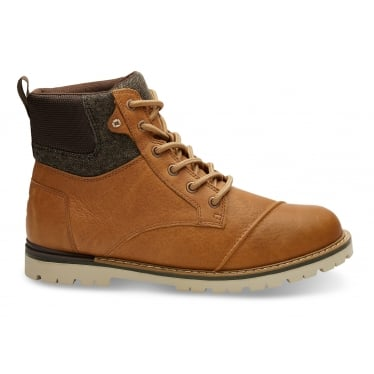 Mens Ashland Waterproof Boot in Dark Toffee Leather