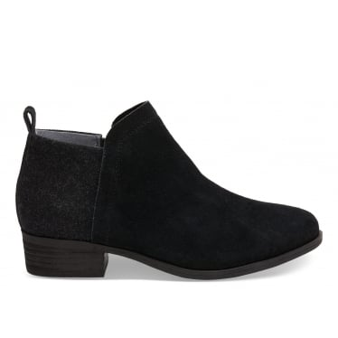 Womens Deia Booties in Black Suede