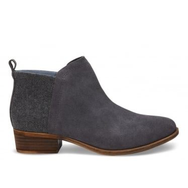 Womens Deia Booties in Castlerock Grey Suede