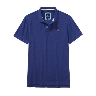 Mens Classic Pique Polo in Bright Navy Marl