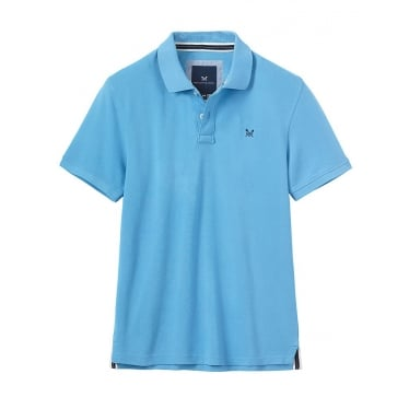 Mens Classic Pique Polo in Sky