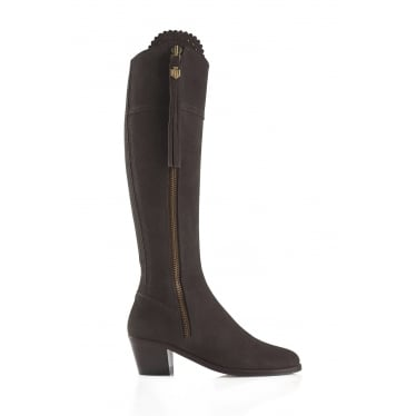 Womens Heeled Regina Boot in Chocolate