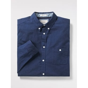 Mens Campus Oxford Slim Shirt in Navy