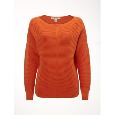 Womens Eastside Textured Jumper in Orange