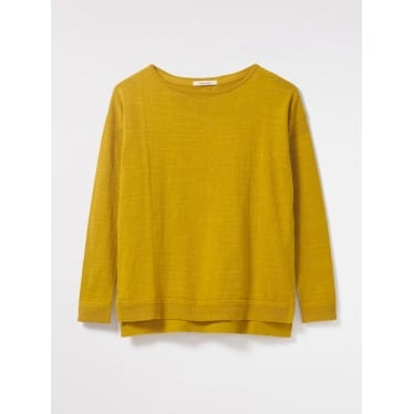 Womens Savanna Jumper in Egg Yolk Plain