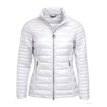 Womens Iona Quilted Jacket in Ice White