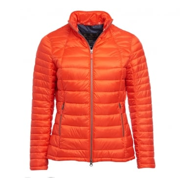 Womens Daisyhill Quilted Jacket in Signal Orange/Navy