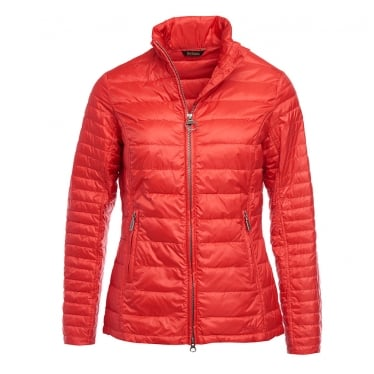 Womens Iona Quilted Jacket in Red