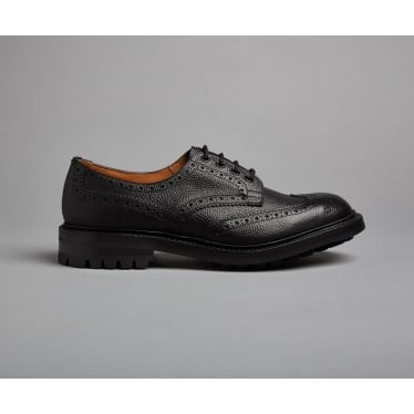 Mens Ilkley Country Shoe in Black Scotch