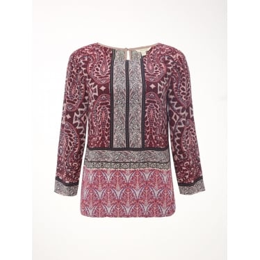 Womens Lillyanna Paisley Top in Multi