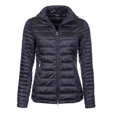 Womens Iona Quilted Jacket in Dark Navy