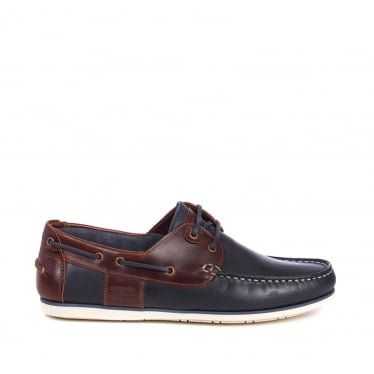 Barbour Mens Capstan Shoes in Navy/Brown