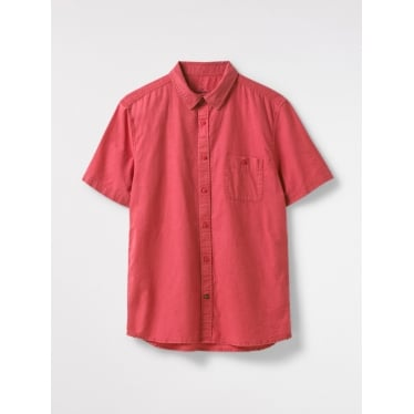 Mens Dunes Short Sleeve Shirt in Berry