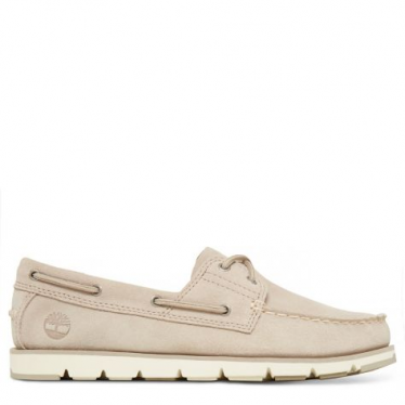 Womens Camden Falls Suede Boat Shoe in Simply Taupe