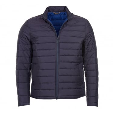 Mens Upton Baffle Quilted Jacket in Navy