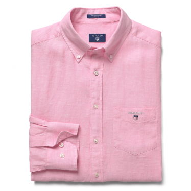 Mens The Regular Linen Shirt in Shadow Rose